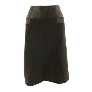 Worthington Pencil Skirt Pleated Solid Black